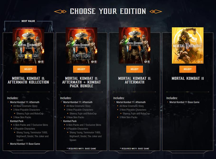 Mortal Kombat 11 Aftermath Comprar
